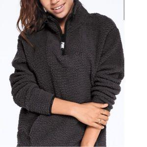 PINK Half Zip Sherpa Pullover XL